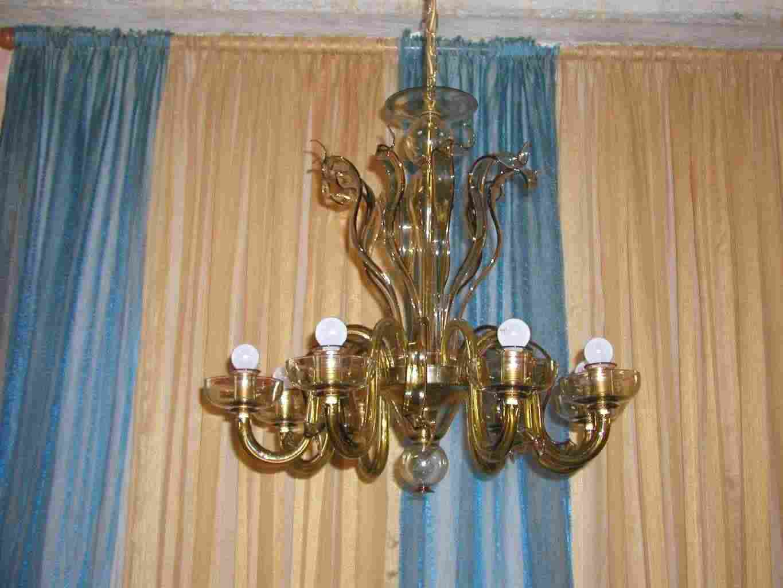 Lampadario vetro di Murano per salone