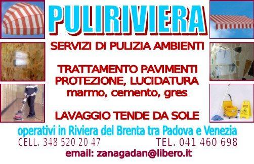 PULIZIA AMBIENTI - LAVAGGIO TENDE DA SOLE ESTERNE