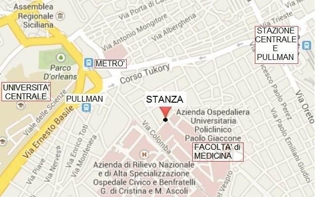 STANZA SINGOLA ZONA POLICLINICO - UNIVERSITA' CENTRALE