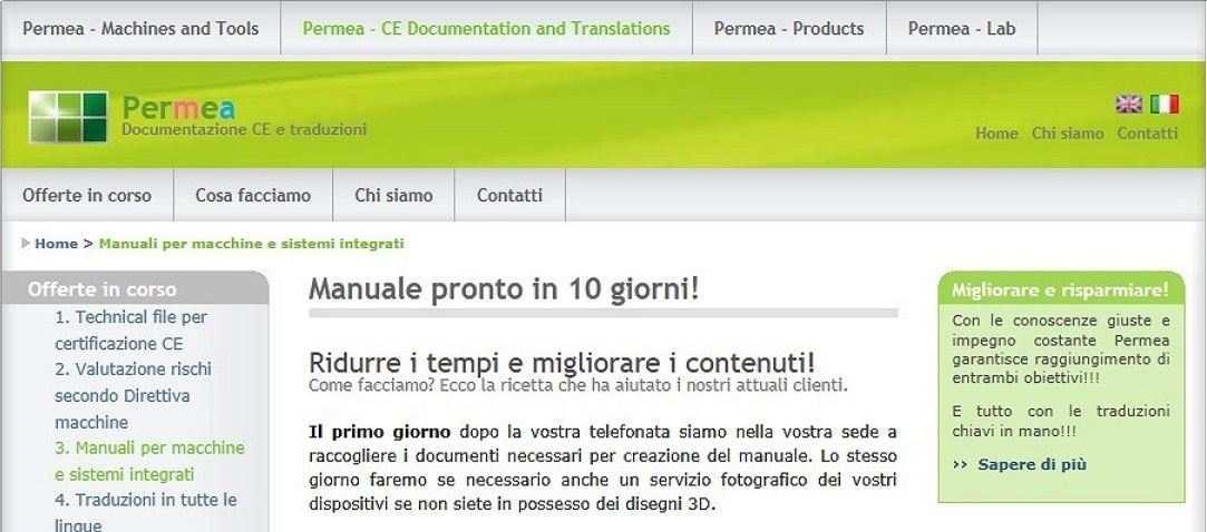 Redazione manuali d'uso e manutenzione e traduzioni