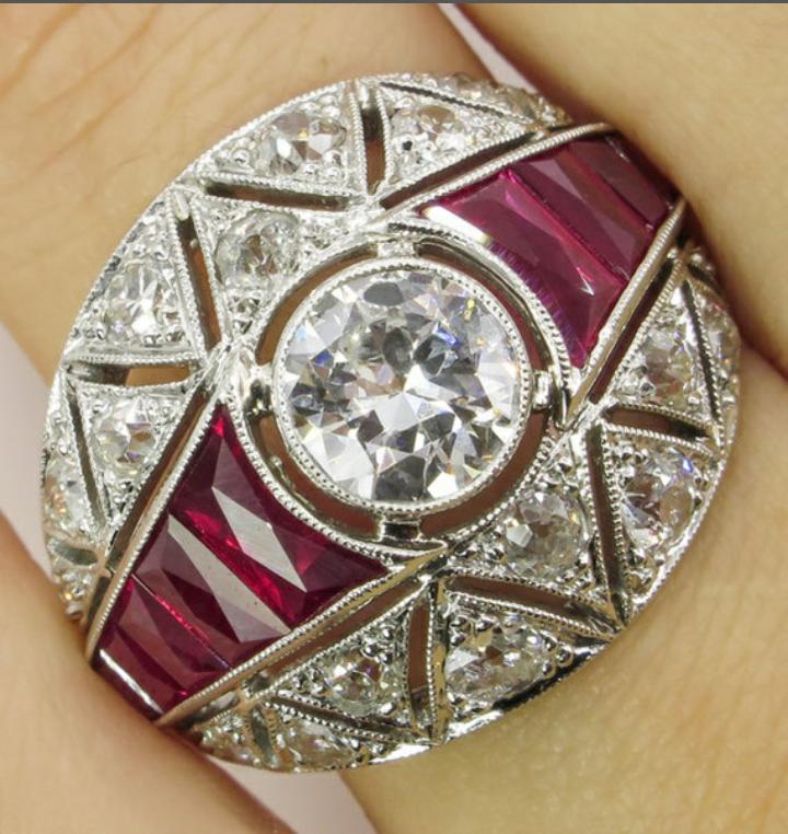 Anello in Argento 925 rubini e zaffiri