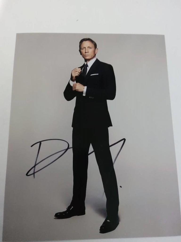 FOTO Daniel Craig James Bond 007 Signed + COA Photo Daniel Craig James Bond 007 Autografato Signed