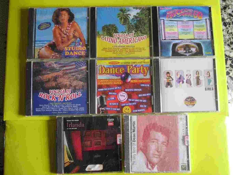 In blocco 8 di cd musica di vario genere