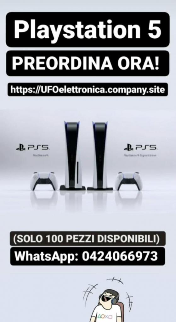 PlayStation 5 disponibile solo 100