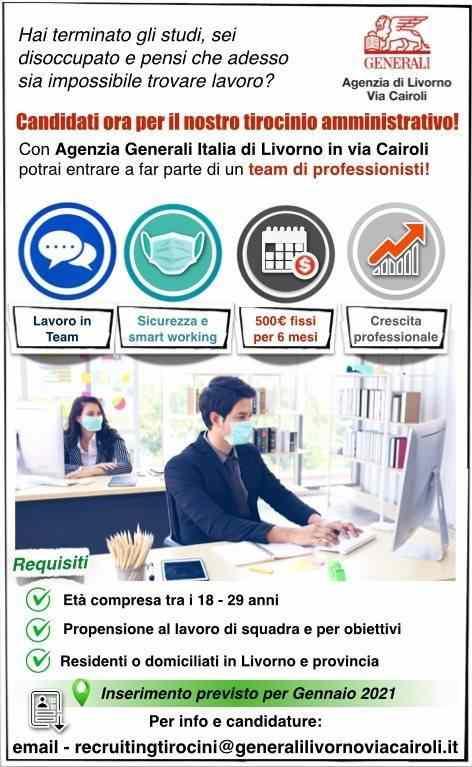 Tirocinio Amministrativo Agenzia Generali Livorno via Cairoli