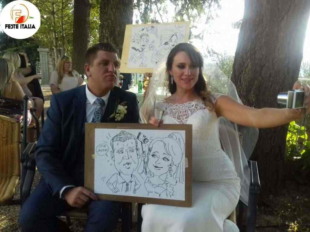 Caricaturista matrimonio Siena