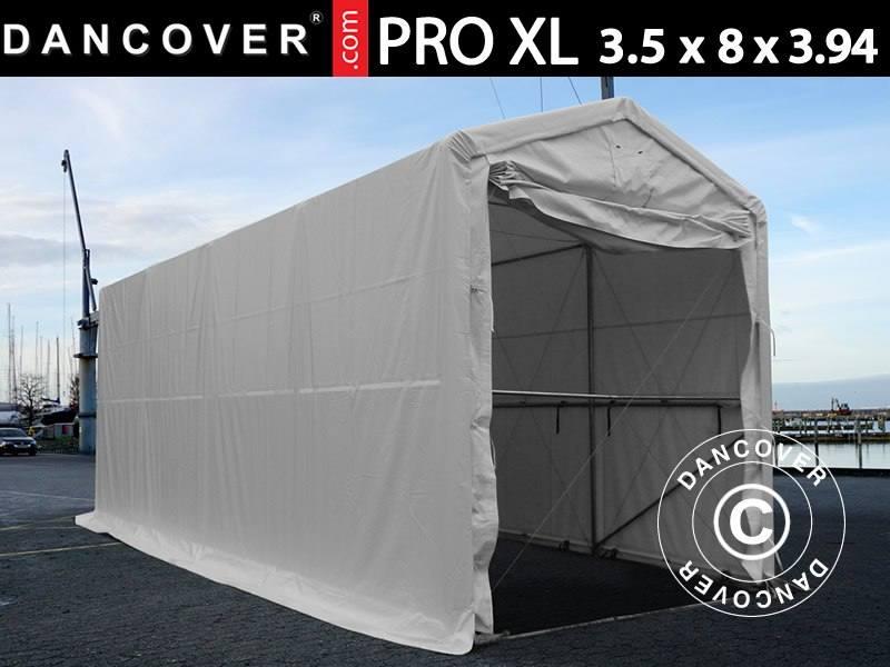 Capannone tenda PRO XL 3,5x8x3,3x3,94m, PVC, Bianco