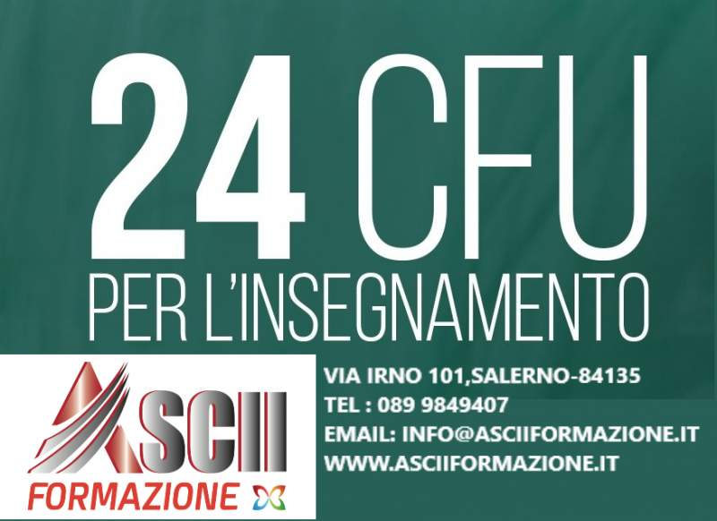 24 CFU PER L'ISEGNAMENTO