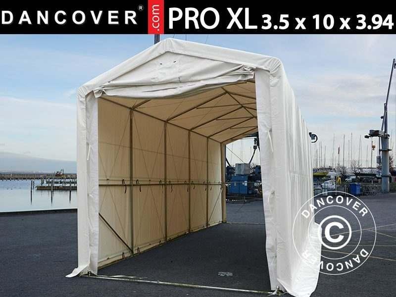 Capannone tenda PRO XL 3,5x10x3,3x3,94m, PVC, Bianco