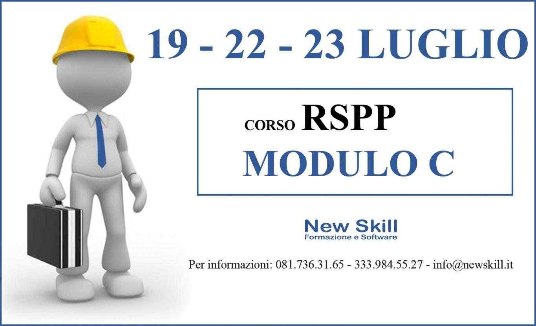 Corso RSPP - Mod. C alla New Skill