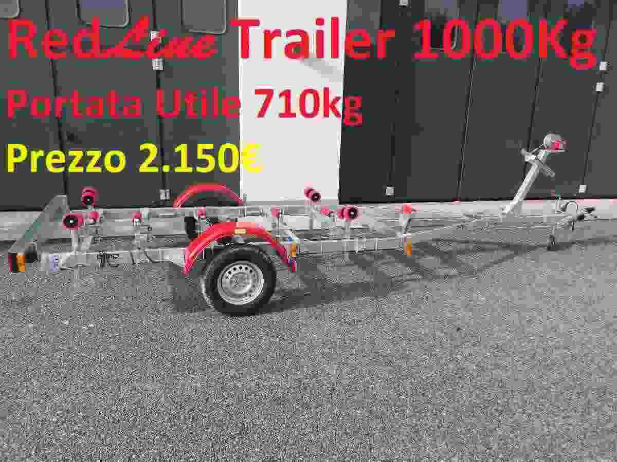 Carrello porta barca 1000kg complessivo