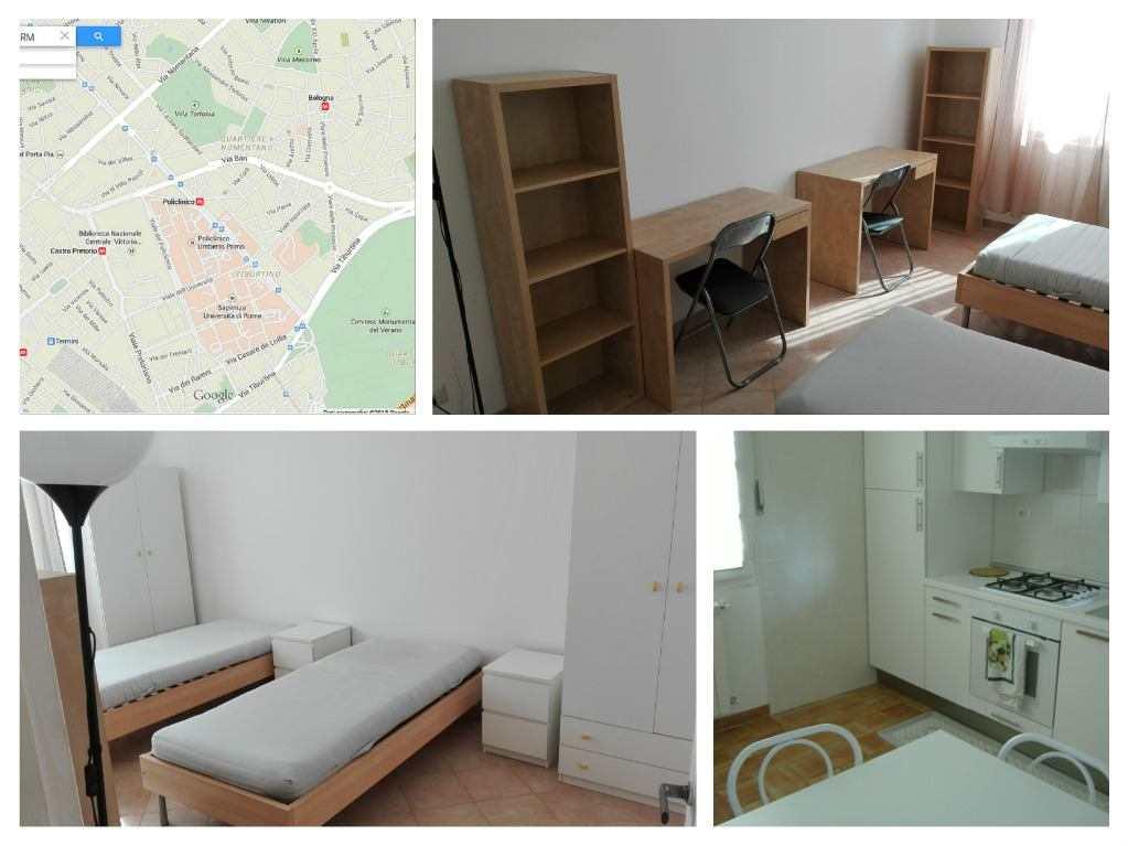 CAMERE E POSTI LETTO in appartamenti per studenti o giovani lavoratori ROMA