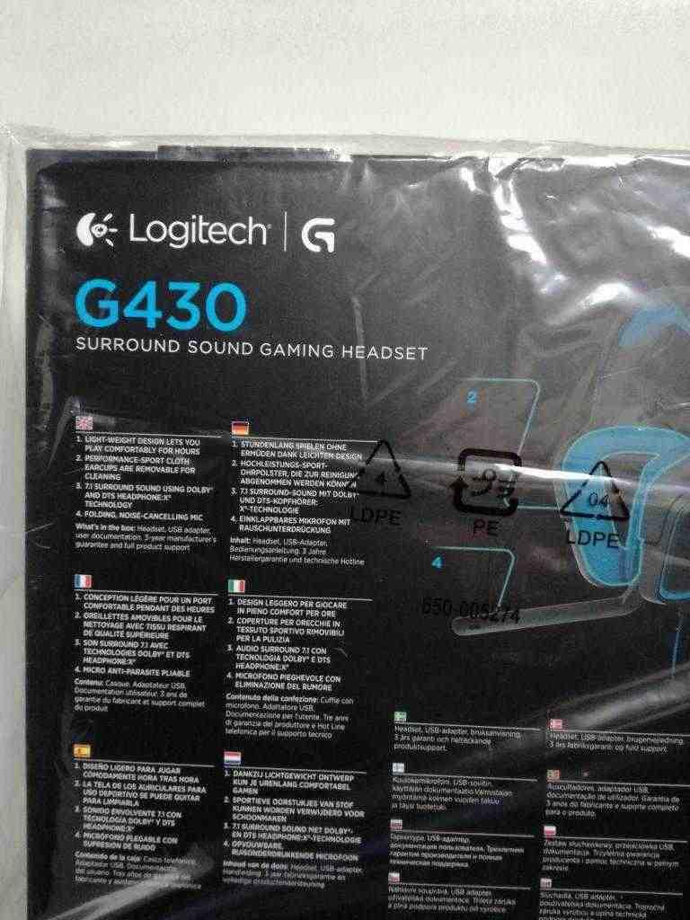 VENDO Cuffie da gaming Logitech G430 NUOVE
