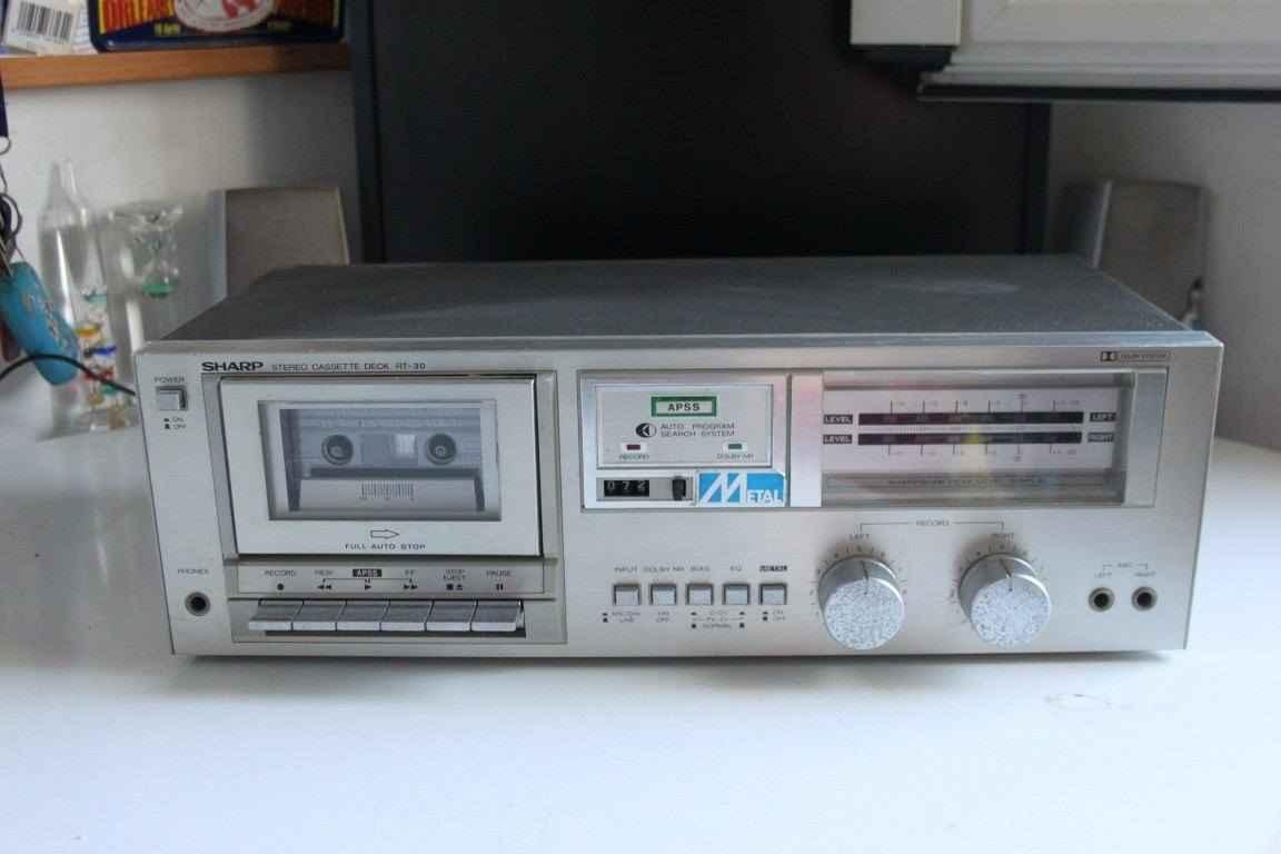 SHARP stereo cassette deck RT-30h usato
