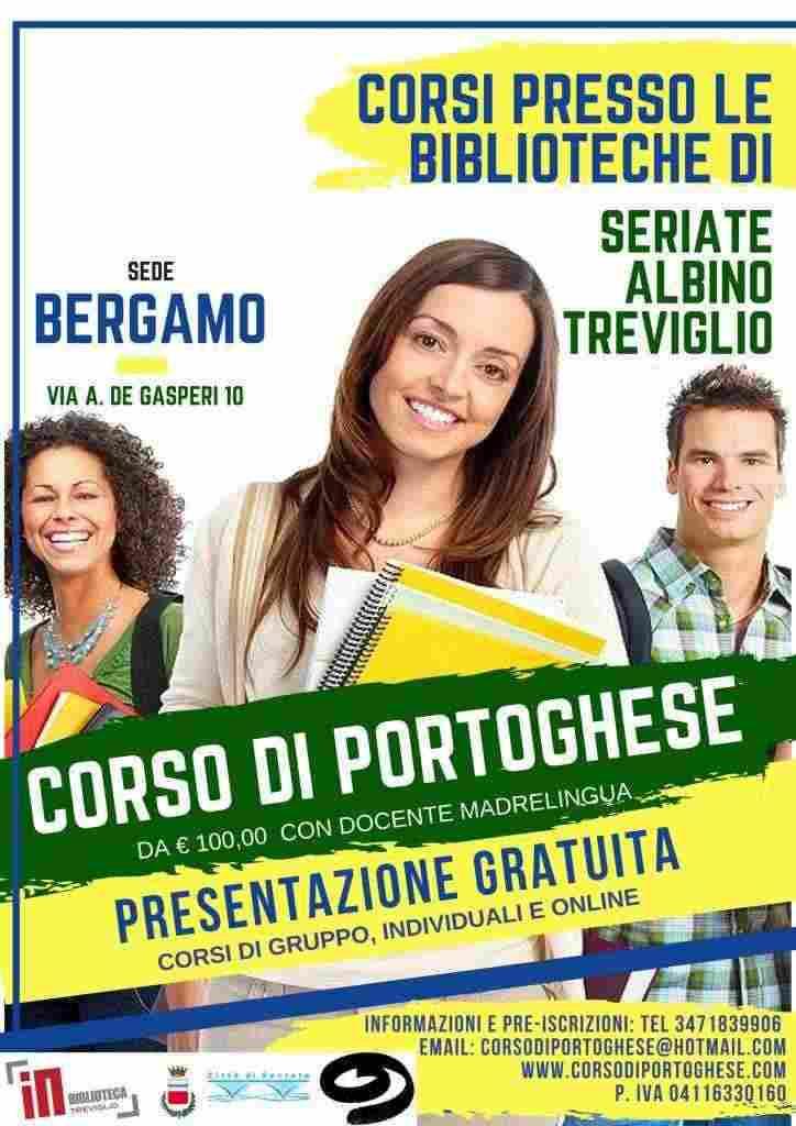 Corso Portoghese da €100 Biblioteche:Seriate-Treviglio-Albino-BG