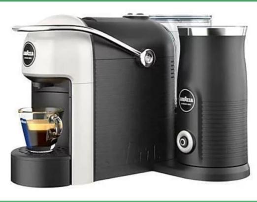 Macchina da caffè Lavazza A Modo Mio LM700 Jolie&ampMilk Bianco Capsule