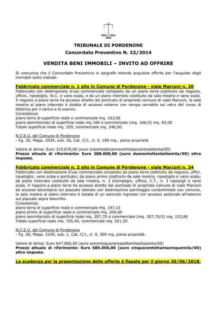 Fabbricati commerciali in Pordenone