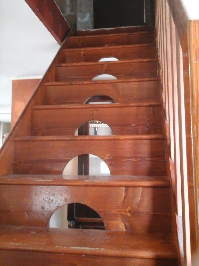 Scala in legno abete