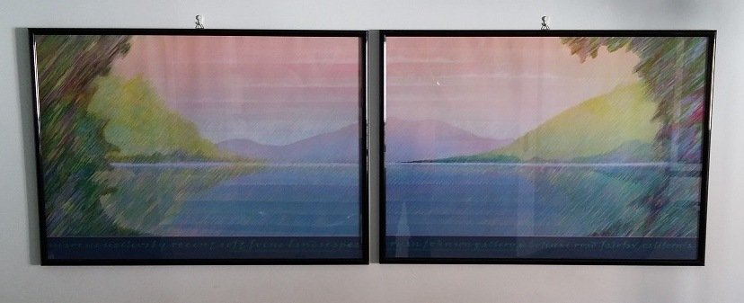 Quadri da parete + cornice raffiguranti paesaggio