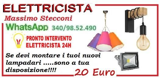 SOSTITUZIONE LAMPADARIO PIANCIANO SALARIO ROMA