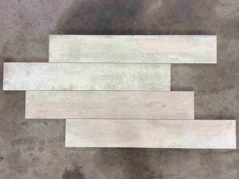 Piastrelle da interno effetto cemento bianco