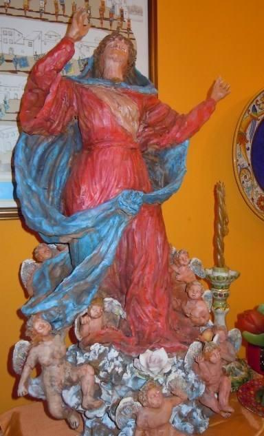 Statua dell'Assunta in terracotta dipinta