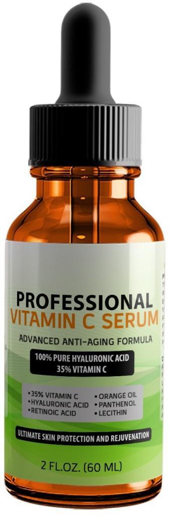 Siero Professionale 35% Vitamina C Puro Acido Ialuronico e Acido Retinoico