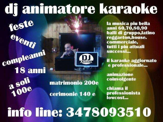 dj animatore karaoke a soli 100 euro