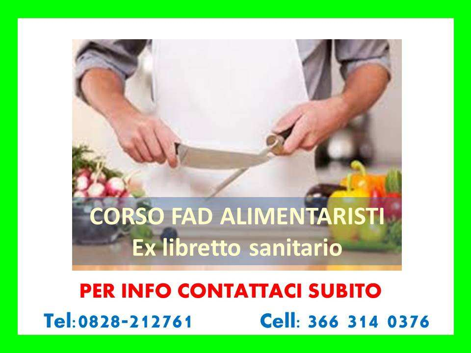 Corso ex libretto sanitario - ONLINE ( IN TUTTA ITALIA)