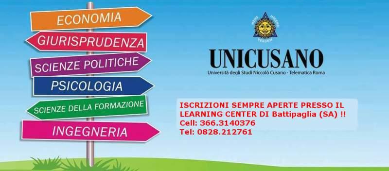 Unicusano BATTIPAGLIA (ISCRIZIONI IN TUTTA ITALIA)