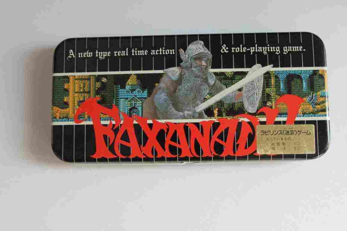 Faxanadu Metal Pen Case, gioco labirinto e portapenne gadget videogiochi raro