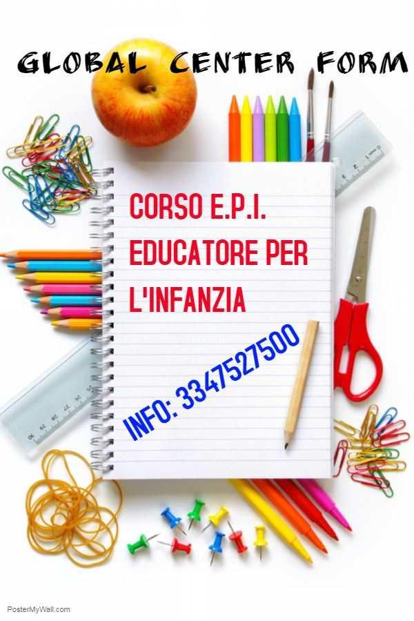 CORSO EDUCATORE PER L'INFANZIA