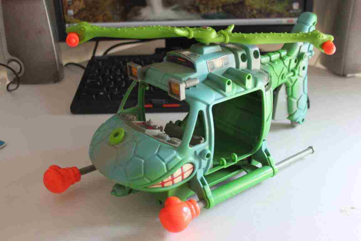 Teenage Mutant Ninja Turtles elicottero Pogo Copter TMNT Mirage 1990