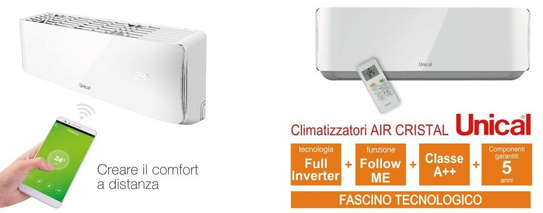 CLIMATIZZATORE UNICAL AIR CRISTAL INVERTER IN FORMULA ESCO CONTOTERMICO 2.0