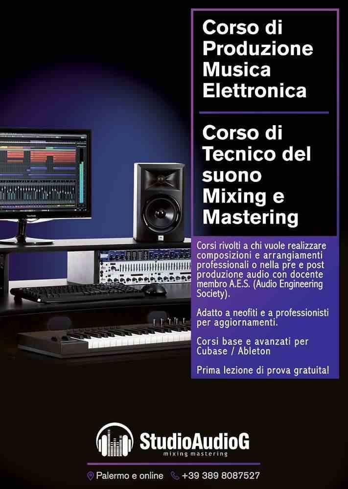 Corso Ableton/ Cubase/ FL studio /Mixing e Mastering a Palermo e online