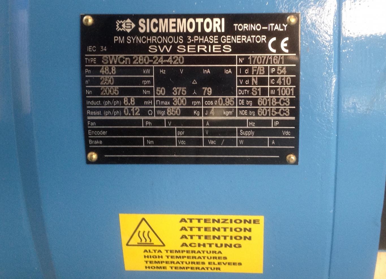 Sicmemotori generatore sincrono 48 Kw