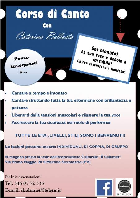 lezioni di canto a Pavia con Caterina Bellosta