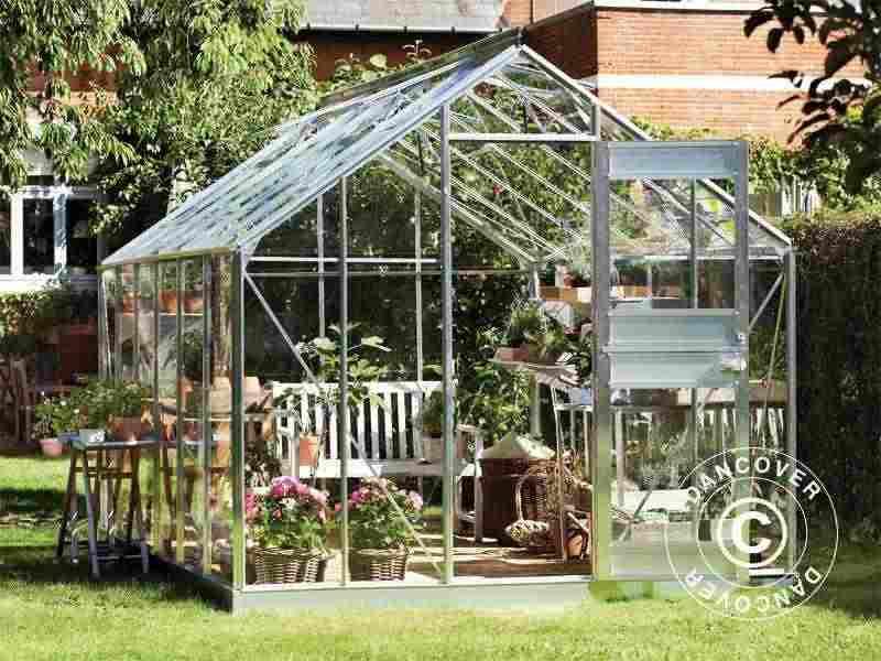 Serra da giardino Vetro Juliana Junior 12,1m², 2,77x4,41x2,57m, Alluminio