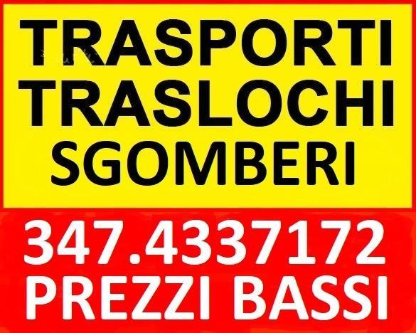 ROMANA TRASLOCHI TRASPORTI SGOMBERI ESEGUE OVUNQUE A PREZZI MODICI 7 GIORNI SU 7