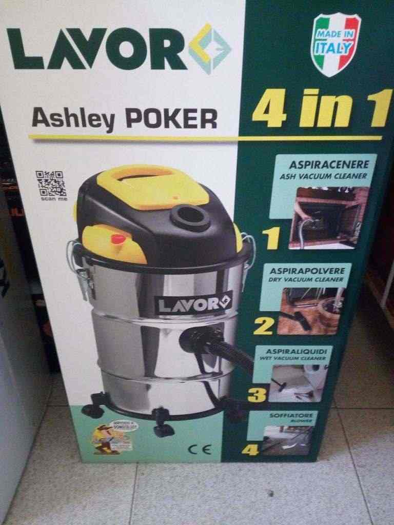 Aspiracenere Lavor Ashley Poker (4 in 1) aspirapolvere aspiraliquidi e soffiante
