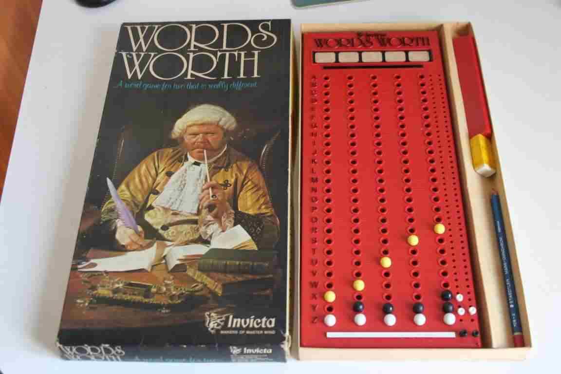 Gioco vintage da tavolo board game Words Worth Invicta