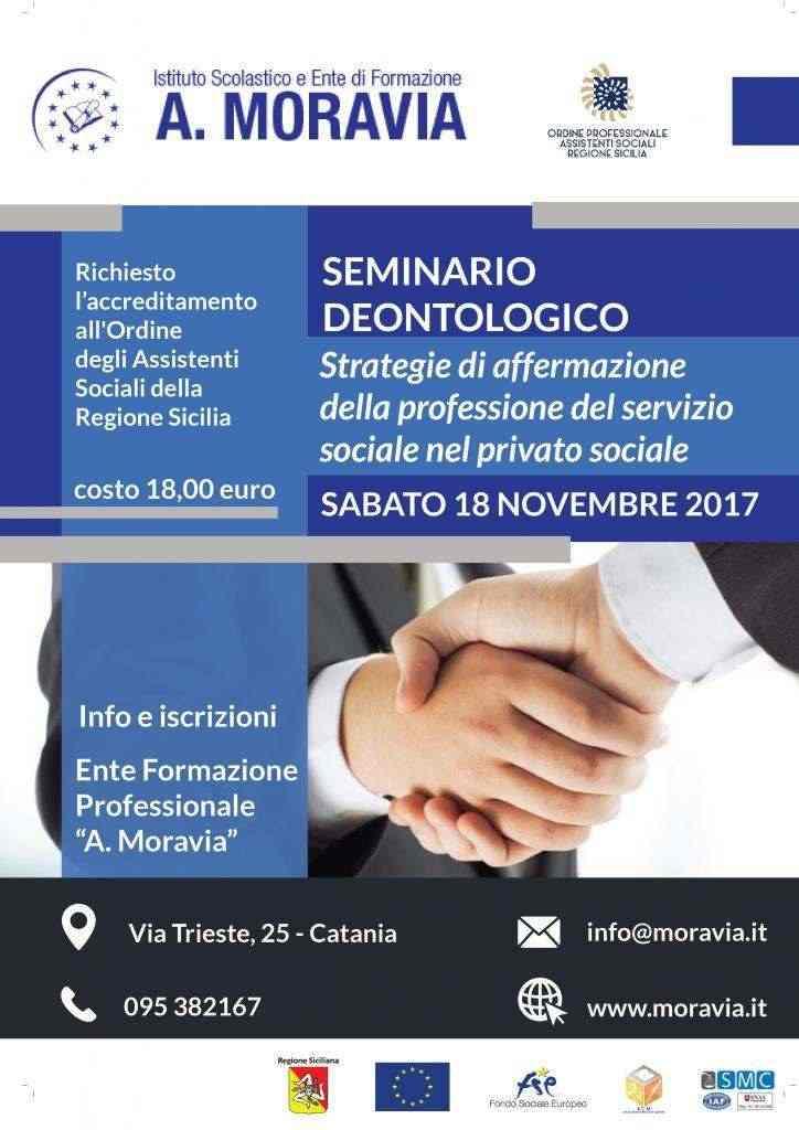 SEMINARIO DEONTOLOGICO Strategie di affermazione della professione del servizio sociale nel privato