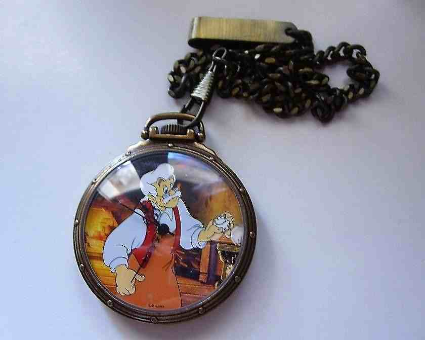 Orologio Pocket Pinocchio e Geppetto Watch Unico in Europa Rarissimo