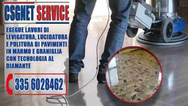 Levigatura e lucidatura pavimenti marmo e graniglia