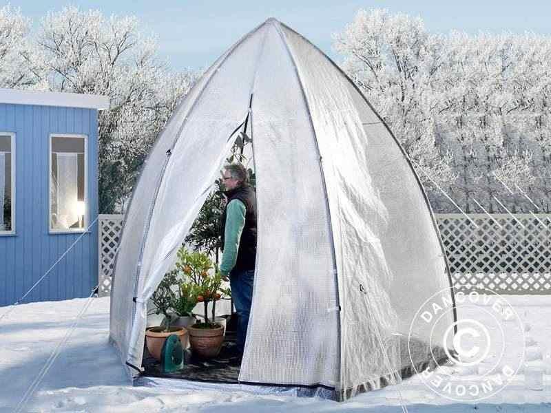 Tenda Invernale per la Protezione delle Piante, Tropical Island XL, Ø3,4x2,8m