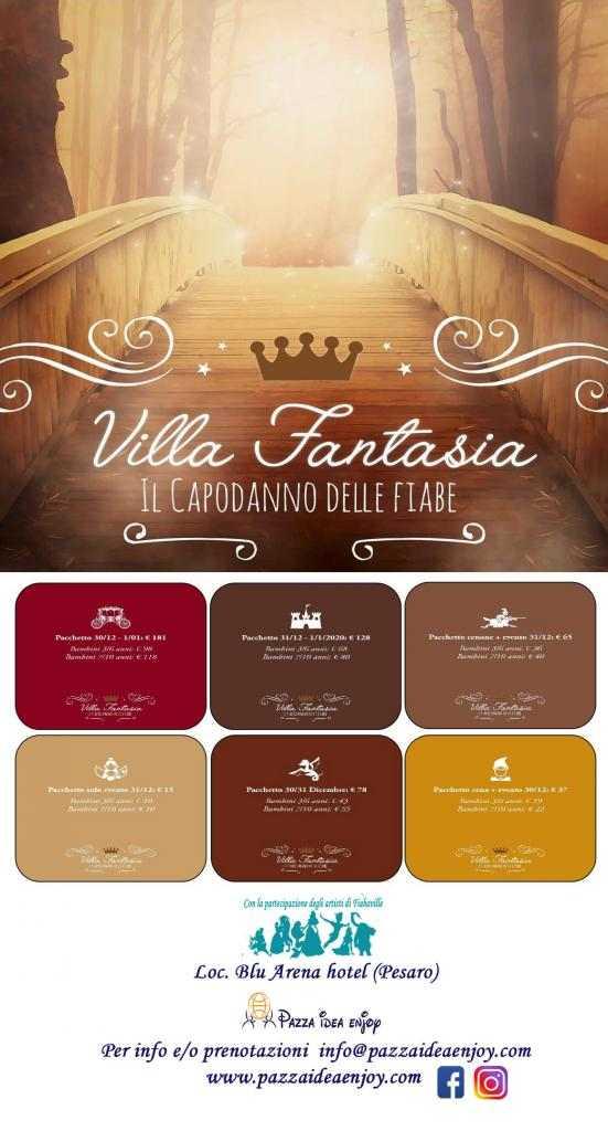 Un capodanno da fiaba a Villa Fantasia 2019/20