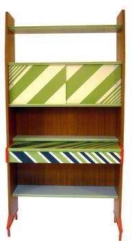 libreria scrittoio anni 60  tek e smalti