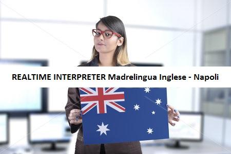 Interprete real time Madrelingua Inglese - Italiano