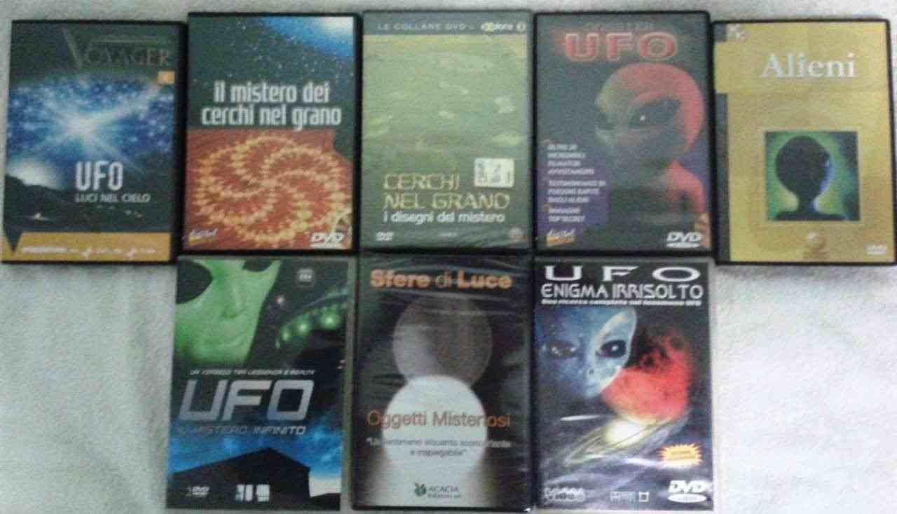 Ufo e Alieni, dvd documentari e libri vari. Lista 1