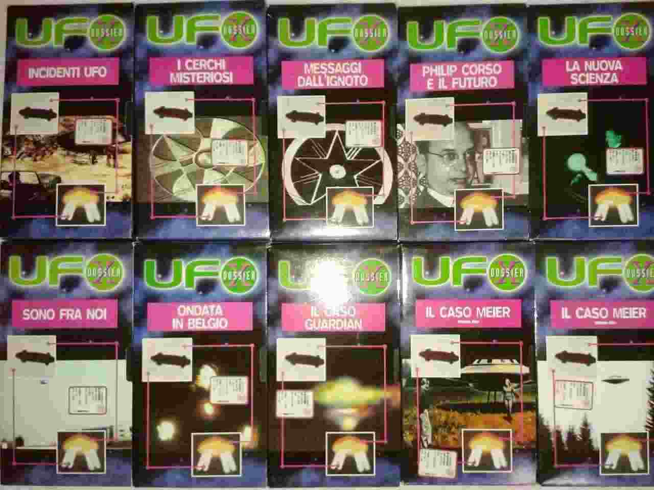 Ufo e alieni, UFO Dossier X, vari volumi in Vhs. Lista 3